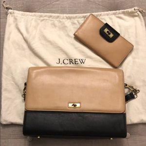 JCrew handbag and wallet with garment bag